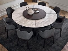- Round marble table with Lazy Susan CONCORDE | Marble table - Poliform