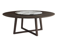 - Round solid wood table CONCORDE | Round table - Poliform