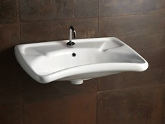 - Rectangular ceramic washbasin CONFORT - CRA - Alice Ceramica