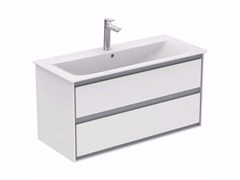 - Lacquered wall-mounted vanity unit with drawers CONNECT AIR - E0821 - Ideal Standard Italia