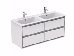 - Double lacquered vanity unit with drawers CONNECT AIR - E0822 - Ideal Standard Italia