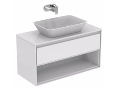 - Mobile lavabo laccato con cassetti CONNECT AIR - E0828 - Ideal Standard Italia