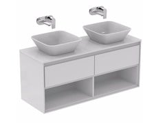 - Mobile lavabo doppio laccato con cassetti CONNECT AIR- E0829 - Ideal Standard Italia