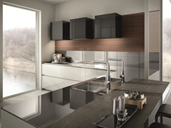 - Lacquered kitchen with peninsula CONTEMPORA | Kitchen with peninsula - Aster Cucine