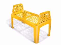 - Galvanized steel Bench CORAL SEAT - LAB23