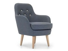 - Upholstered fabric armchair CORNELL LARGE - Domingo Salotti