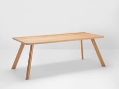 - Rectangular oak dining table CORNER | Oak table - H Furniture