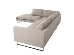- 5 seater sled base corner fabric sofa TOKYO | Corner sofa - SITS