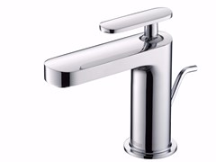 - Countertop single handle chromed brass washbasin mixer CHARMING PLUS | Countertop washbasin mixer - JUSTIME