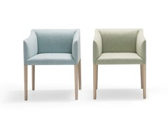 - Upholstered chair with armrests COUVÉ | Chair - Andreu World