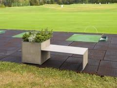 Panchina modulare in gres porcellanato con fioriera integrataCOVER | Panchina con fioriera integrata - MODULARTE