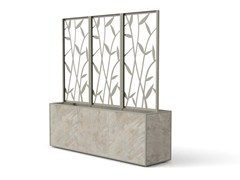 Fioriera modulare in gres porcellanato con grigliatoCOVER | Fioriera con grigliato - MODULARTE