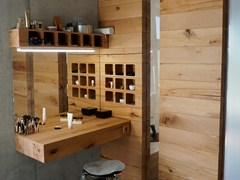 Mobile toilette in faggioCRAFTWAND®   Mobile toilette - MASSIV FOREST PRODUCTS