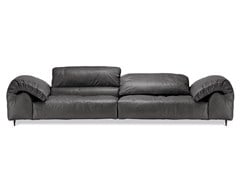 - 3 seater leather sofa with headrest CRAZY DIAMOND | 3 seater sofa - Arketipo