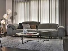 - 3 seater fabric sofa with headrest CRAZY DIAMOND | Fabric sofa - Arketipo
