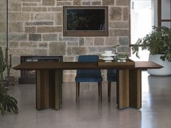 - Rectangular oak table CROSS WOOD - Dall'Agnese
