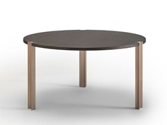 - Round wooden table CROSSING | Round table - Punt