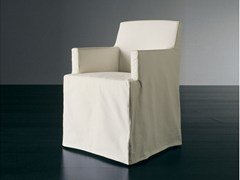 - Upholstered chair with armrests CRUZ | Chair with armrests - Meridiani