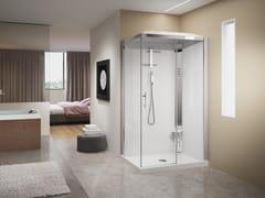 Box doccia a due posti con idromassaggioCRYSTAL 2P 120X80 - NOVELLINI