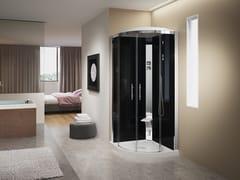 Box doccia semicircolare con idromassaggioCRYSTAL R90 - NOVELLINI