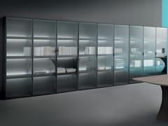 Libreria ufficio autoportante in legno e vetroCUBIK | Libreria ufficio autoportante - MARTEX