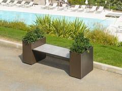 Panchina modulare in acciaio con fioriera integrataCUBO | Panchina con fioriera integrata - MODULARTE