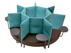- High-back fabric small sofa CUMULUS   Small sofa - Sedes Regia