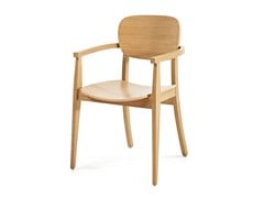 - Wooden chair with armrests CUP CUP + A - Z-Editions