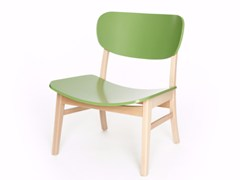 - Wooden easy chair CUP CUP LOUNGE - Z-Editions