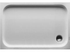 - Rectangular acrylic shower tray D-CODE | 120 x 80 - DURAVIT