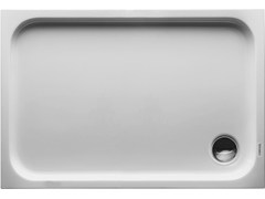 - Rectangular acrylic shower tray D-CODE | 110 x 75 - DURAVIT
