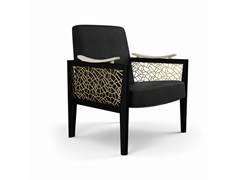 - Upholstered armchair with armrests DAHLIA   Armchair - MARIONI