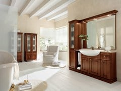 - Walnut bathroom cabinet / vanity unit DALÌ - COMPOSITION 15 - Arcom