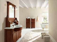 - Walnut bathroom cabinet / vanity unit DALÌ - COMPOSITION 19 - Arcom