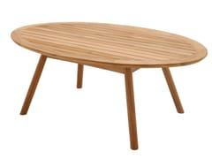- Oval teak garden side table DANSK | Teak coffee table - Gloster