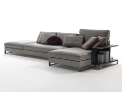- Sled base sectional leather sofa DAVIS BOOK | Leather sofa - FRIGERIO POLTRONE E DIVANI