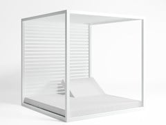 - Double recliner canopy thermo lacquered aluminium garden bed DAYBED | Aluminium garden bed - GANDIA BLASCO