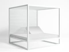 - Contemporary style canopy double recliner aluminium garden bed DAYBED ELEVADA | Aluminium garden bed - GANDIA BLASCO