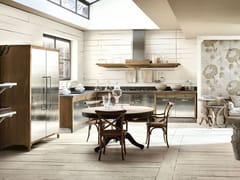 - Cucina componibile in acciaio inox e legno DECHORA - COMPOSIZIONE 01 - Marchi Cucine
