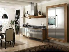 - Cucina componibile in acciaio inox e legno DECHORA - COMPOSIZIONE 02 - Marchi Cucine
