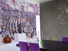 - Contemporary style wallpaper DECODIFICAZIONE 3 - Inkiostro Bianco