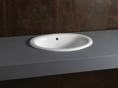 - Inset oval ceramic washbasin DECOR 56 - Alice Ceramica