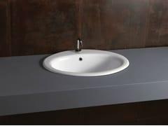 - Inset oval ceramic washbasin DECOR 57 - Alice Ceramica