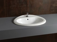 - Inset oval ceramic washbasin DECOR 63 - Alice Ceramica