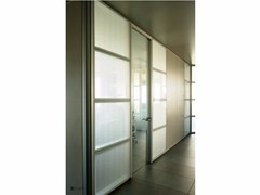 - Decorated glass partition wall DECORFLOU® DESIGN CELS - OmniDecor®
