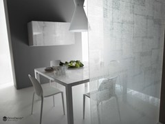 - Decorated glass partition wall DECORFLOU® DESIGN FABRIC - OmniDecor®