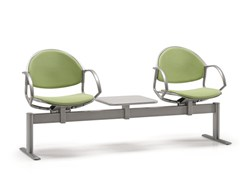 - Freestanding fabric beam seating with armrests DELFI 086 B2T - TALIN
