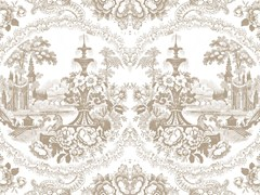 - Motif wallpaper DELFT BAROQUE WALLPAPER - BEIGE - Mineheart