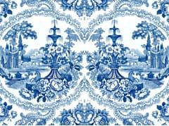- Carta da parati a motivi DELFT BAROQUE WALLPAPER - BLUE - Mineheart