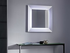 - Square mirror with integrated lighting DENVER UP | Square mirror - SOVET ITALIA